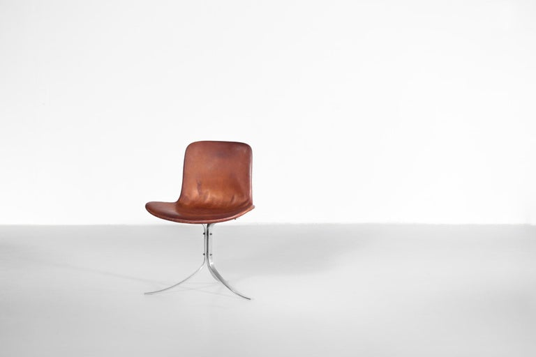 Scandinavian Modern Poul Kjaerholm Chair, Model PK9 for Kold Christensen For Sale