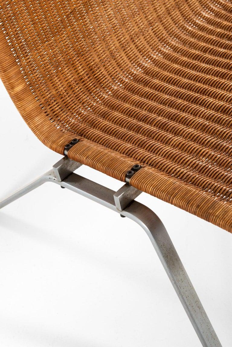 Rare pair of easy chairs model PK-22 designed by Poul Kjærholm. Produced by E. Kold Christensen in Denmark.