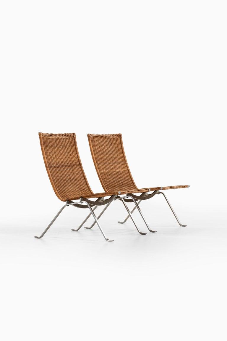 Danish Poul Kjærholm Easy Chairs Model PK-22 Produced by E. Kold Christensen in Denmark For Sale
