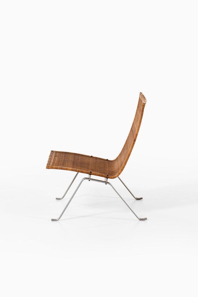 Poul Kjærholm Easy Chairs Model PK-22 Produced by E. Kold Christensen in Denmark For Sale 1