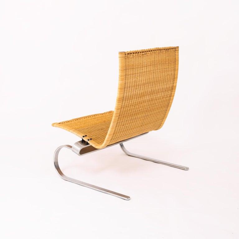 Mid-Century Modern Poul Kjaerholm for Fritz Hansen PK20 Lounge Chair For Sale