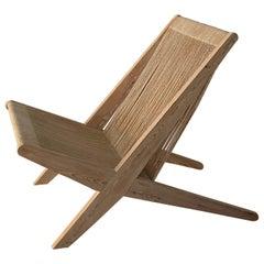 Poul Kjaerholm & Jørgen Høj 'Attribution' Lounge Chair, Pine Rope, Denmark 1960s