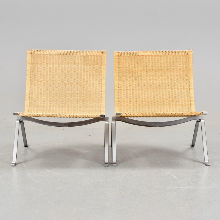 Poul Kjaerholm PK-22 Pair of Easy Chairs 2