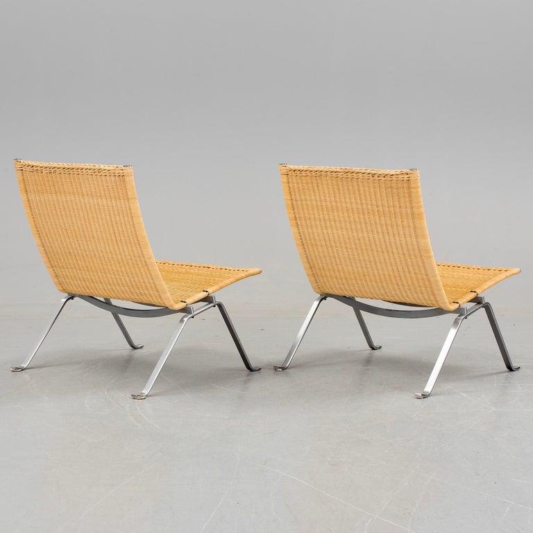 Poul Kjaerholm PK-22 Pair of Easy Chairs 4