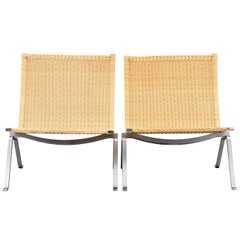 Poul Kjærholm PK-22 Pair of Easy Chairs