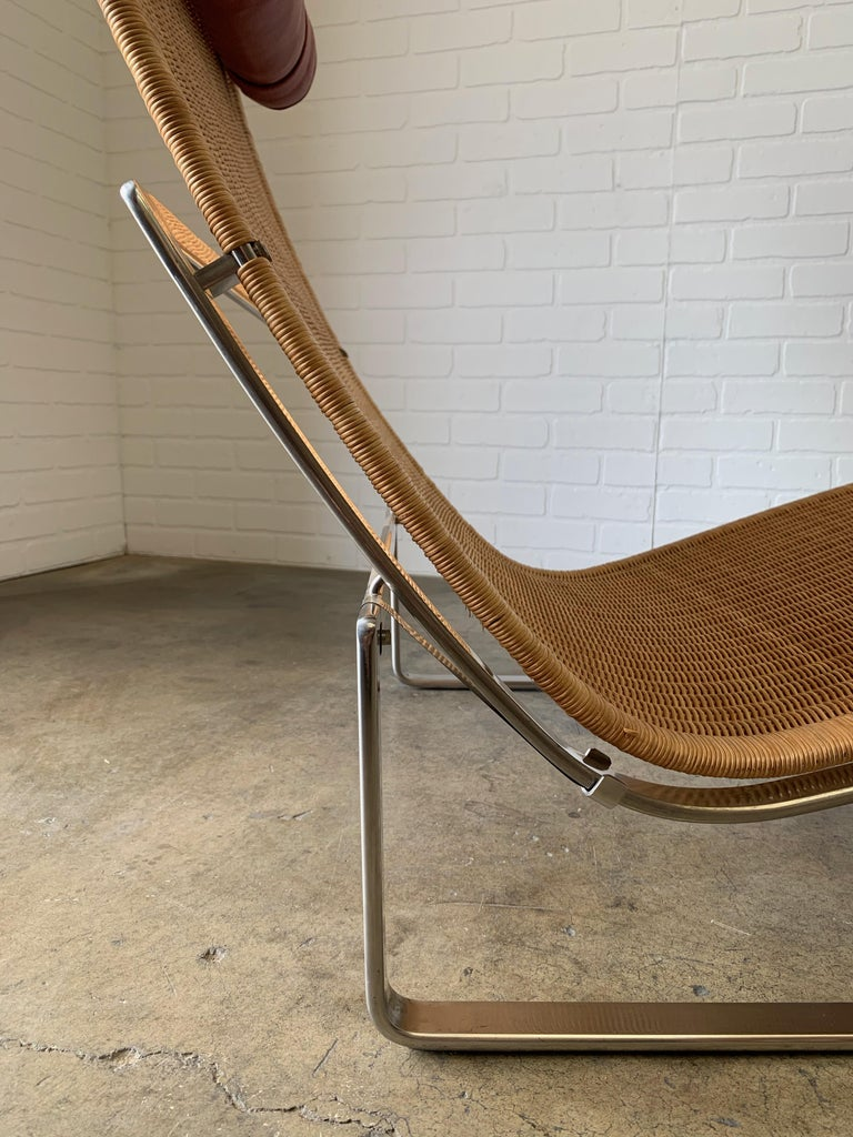 Poul Kjærholm PK 24 Chaise Lounge with Wicker Seat for Fritz Hansen For Sale 11