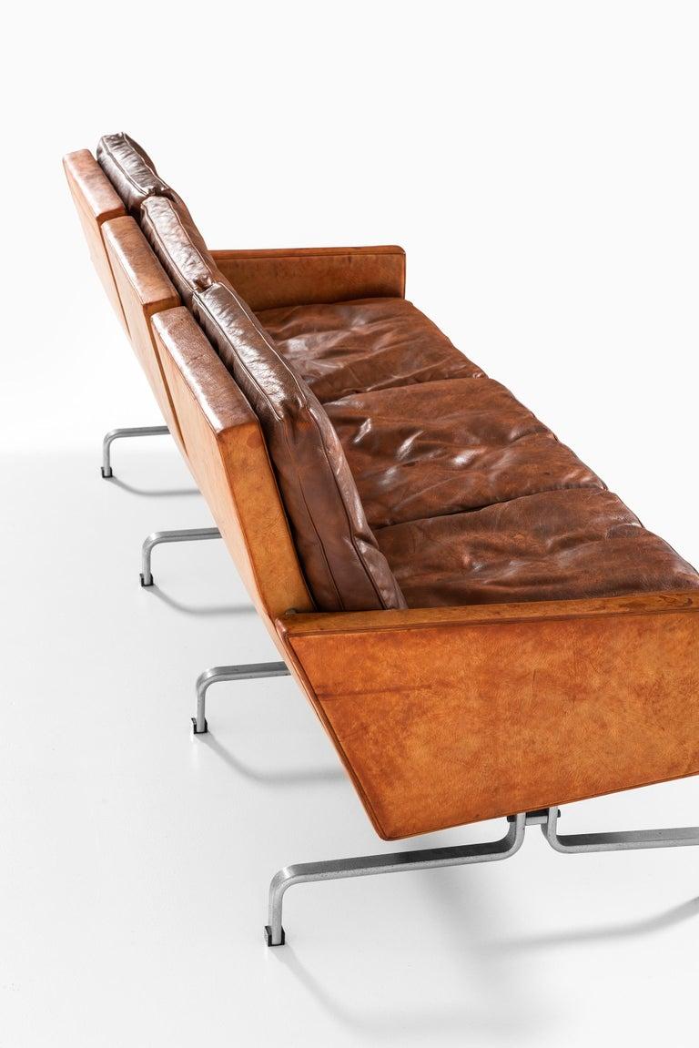 Poul Kjærholm PK-31/3 Sofa by E. Kold Christensen in Denmark For Sale 7