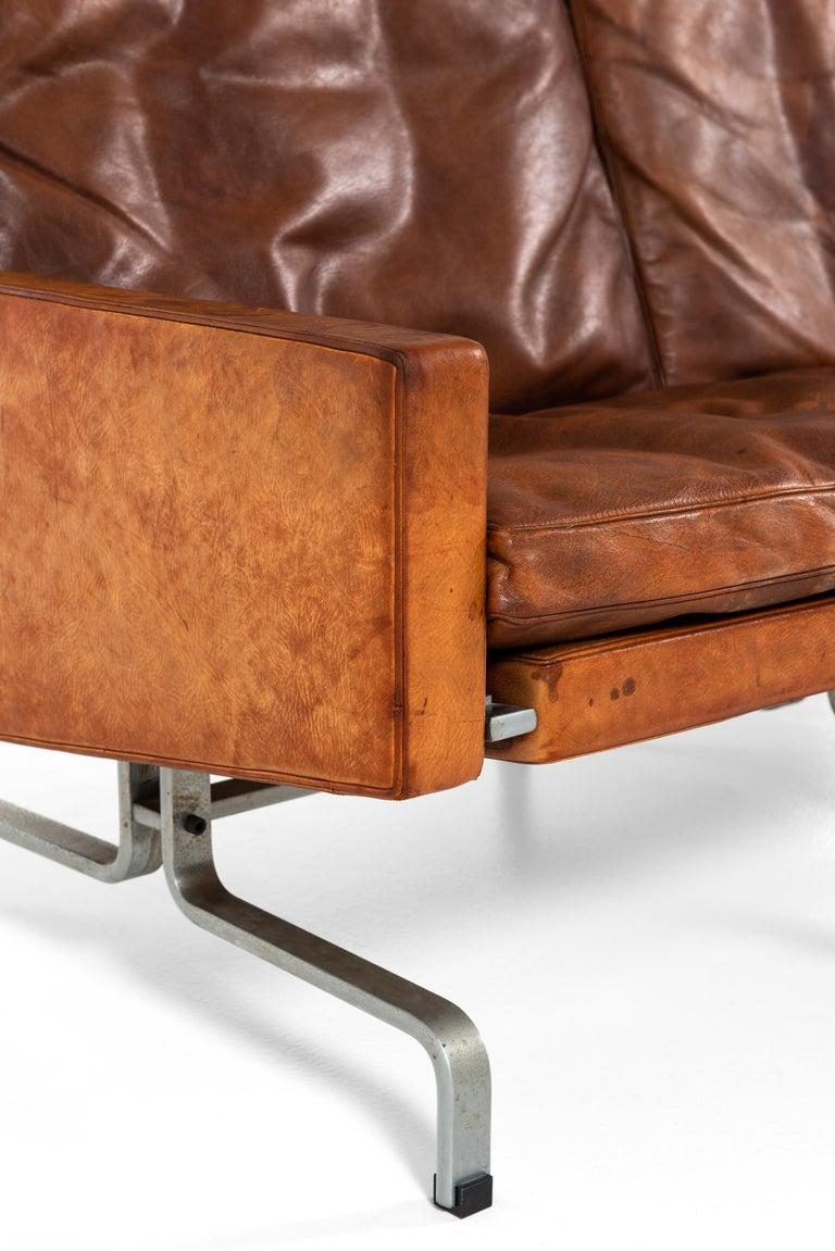 Scandinavian Modern Poul Kjærholm PK-31/3 Sofa by E. Kold Christensen in Denmark For Sale