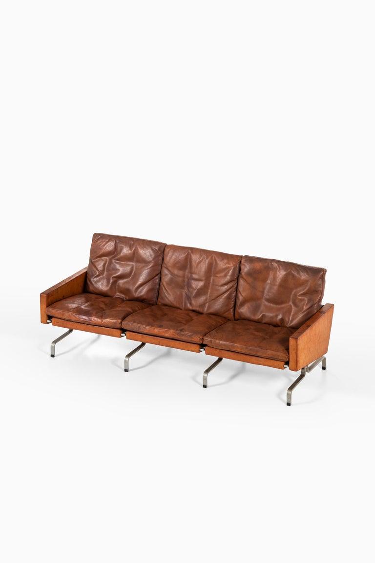 Danish Poul Kjærholm PK-31/3 Sofa by E. Kold Christensen in Denmark For Sale