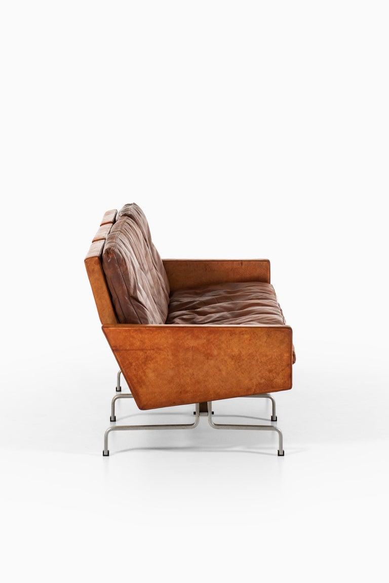 Poul Kjærholm PK-31/3 Sofa by E. Kold Christensen in Denmark In Good Condition For Sale In Malmo, SE