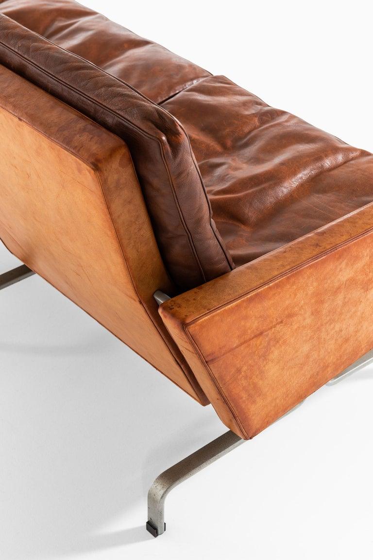 Mid-20th Century Poul Kjærholm PK-31/3 Sofa by E. Kold Christensen in Denmark For Sale