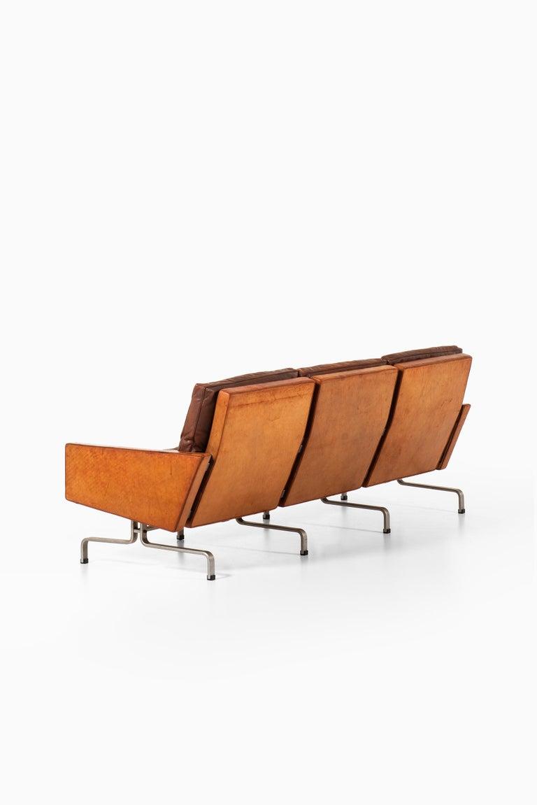 Steel Poul Kjærholm PK-31/3 Sofa by E. Kold Christensen in Denmark For Sale