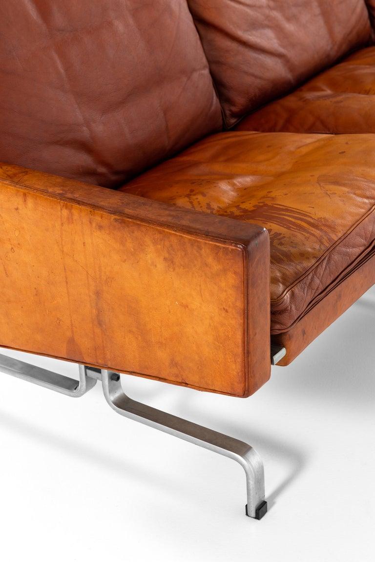 Poul Kjærholm PK-31/3 Sofa Produced by E. Kold Christensen in Denmark For Sale 5