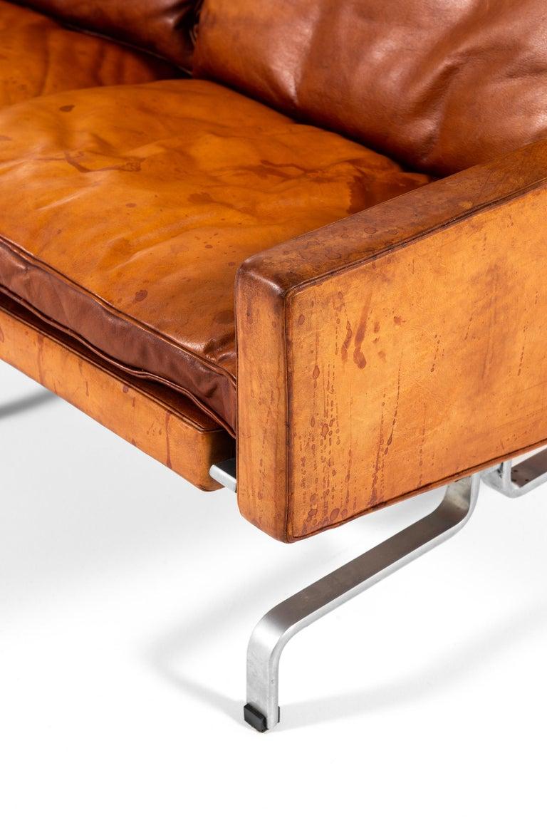 Steel Poul Kjærholm PK-31/3 Sofa Produced by E. Kold Christensen in Denmark For Sale