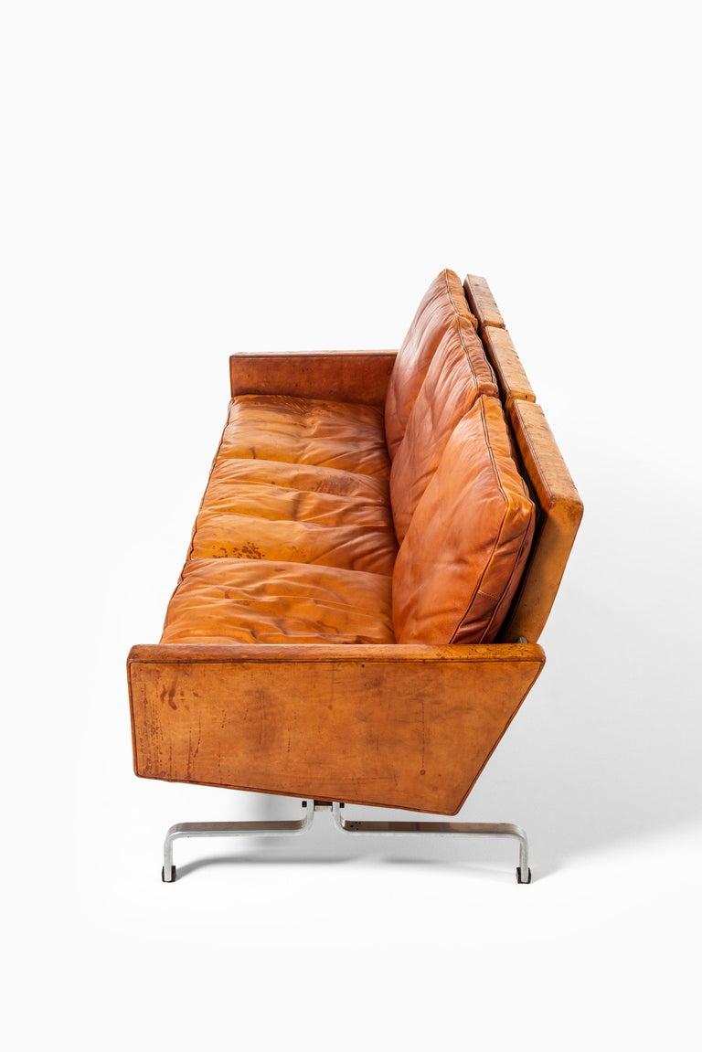 Poul Kjærholm PK-31/3 Sofa Produced by E. Kold Christensen in Denmark For Sale 2