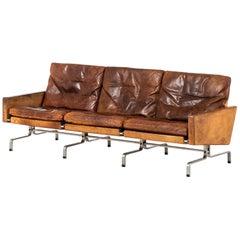 Poul Kjærholm PK-31/3 Sofa Produced by E. Kold Christensen in Denmark