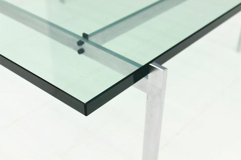 Poul Kjaerholm PK 61 Coffee Table in Steel and Glass E. Kold Christensen Denmark For Sale 2