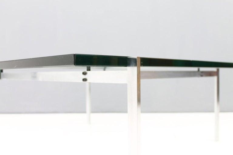 Poul Kjaerholm PK 61 Coffee Table in Steel and Glass E. Kold Christensen Denmark For Sale 3
