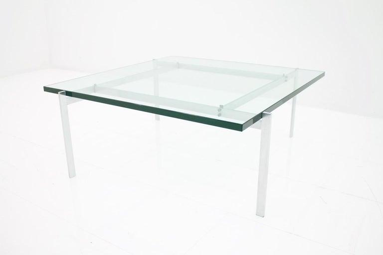 Mid-20th Century Poul Kjaerholm PK 61 Coffee Table in Steel and Glass E. Kold Christensen Denmark For Sale