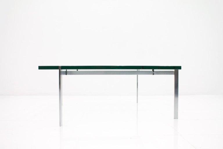Poul Kjaerholm PK 61 Coffee Table in Steel and Glass E. Kold Christensen Denmark For Sale 1