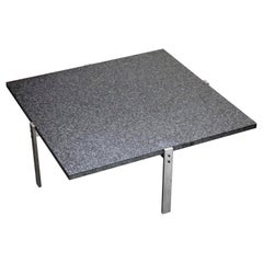 Poul Kjærholm 'PK-65' Steel and Honed Granite Coffee Table, Signed