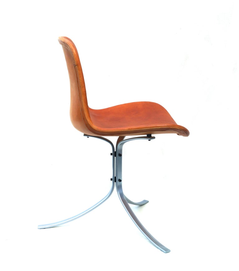 Poul Kjærholm PK-9 dining chair E. Kold Christensen Mid-Century Modern made in Denmark. There is a maker's mark.