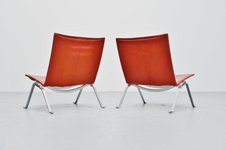 Scandinavian Modern Poul Kjaerholm PK22 Chairs E Kold Christensen, Denmark, 1956 For Sale