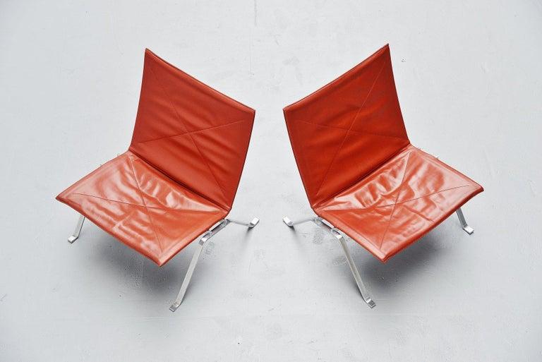 Danish Poul Kjaerholm PK22 Chairs E Kold Christensen, Denmark, 1956 For Sale