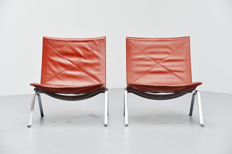 Mid-20th Century Poul Kjaerholm PK22 Chairs E Kold Christensen, Denmark, 1956 For Sale