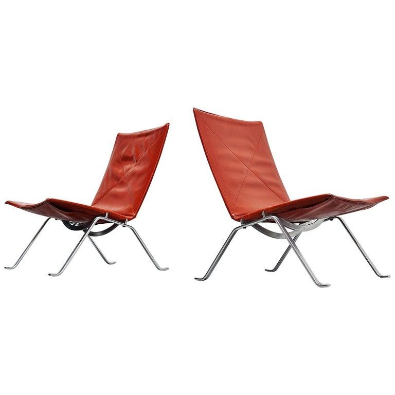 Poul Kjaerholm PK22 Chairs E Kold Christensen, Denmark, 1956 For Sale