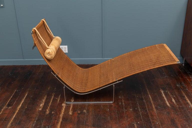 Danish Poul Kjaerholm PK24 Chaise Lounge For Sale