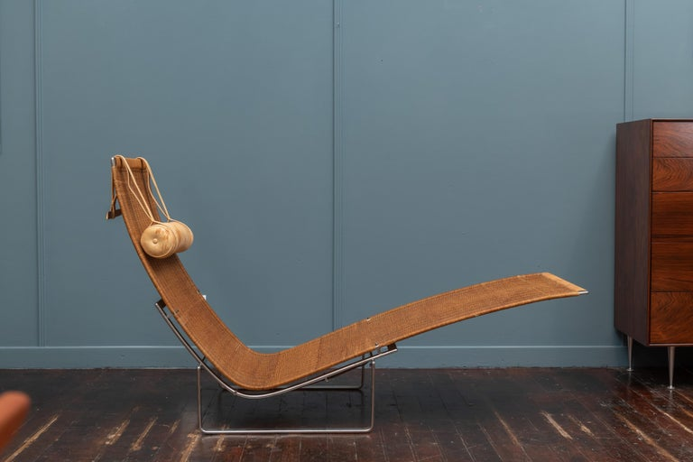 Poul Kjaerholm PK24 Chaise Lounge In Good Condition For Sale In San Francisco, CA