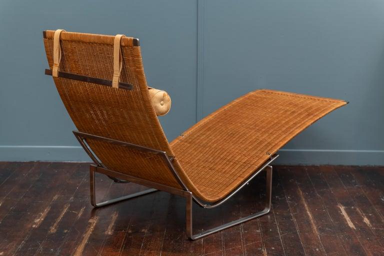 Cane Poul Kjaerholm PK24 Chaise Lounge For Sale