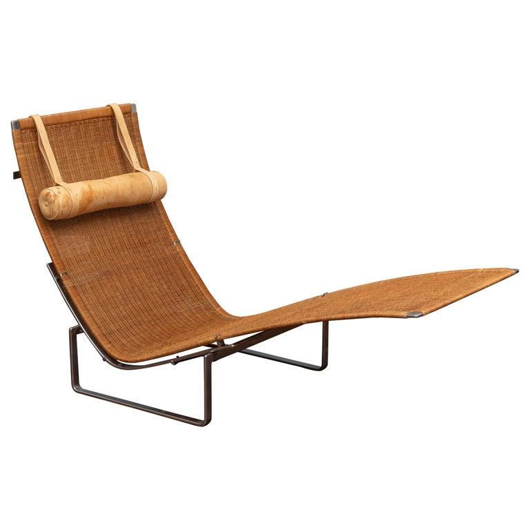 Poul Kjaerholm PK24 Chaise Lounge For Sale