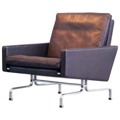 Poul Kjaerholm PK31 / 1 Easy Chair Dark Brown Leather Fritz Hansen Denmark