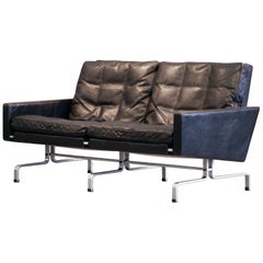Poul Kjaerholm PK31 / 2 Sofa 2-Seat Leather E. Kold Christensen Denmark, 1960s