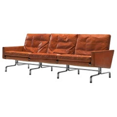 Poul Kjaerholm PK31 Sofa in Cognac Leather