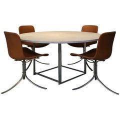 Poul Kjaerholm PK54 Table and PK9 Chairs by Ejvind Kold Christensen