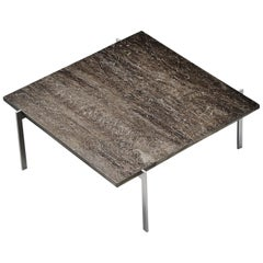 Poul Kjaerholm PK61 Coffee Table Basalt Top EKC, Denmark, 1956