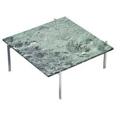Poul Kjaerholm PK61 Coffee Table Green Marble, Denmark, 1956