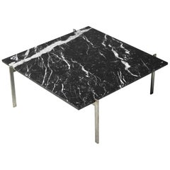 Poul Kjærholm PK61 Coffee Table in Black Marble