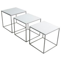 Poul Kjaerholm PK71 Nesting Tables, Denmark 1957, Early Production