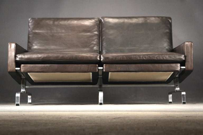 Mid-20th Century Poul Kjaerholm Two-Seat Black