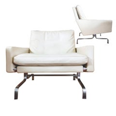 Poul Kjaerlohm for Fritz Hansen PK 31 Easy Armchair in Ivory White Leather 1958