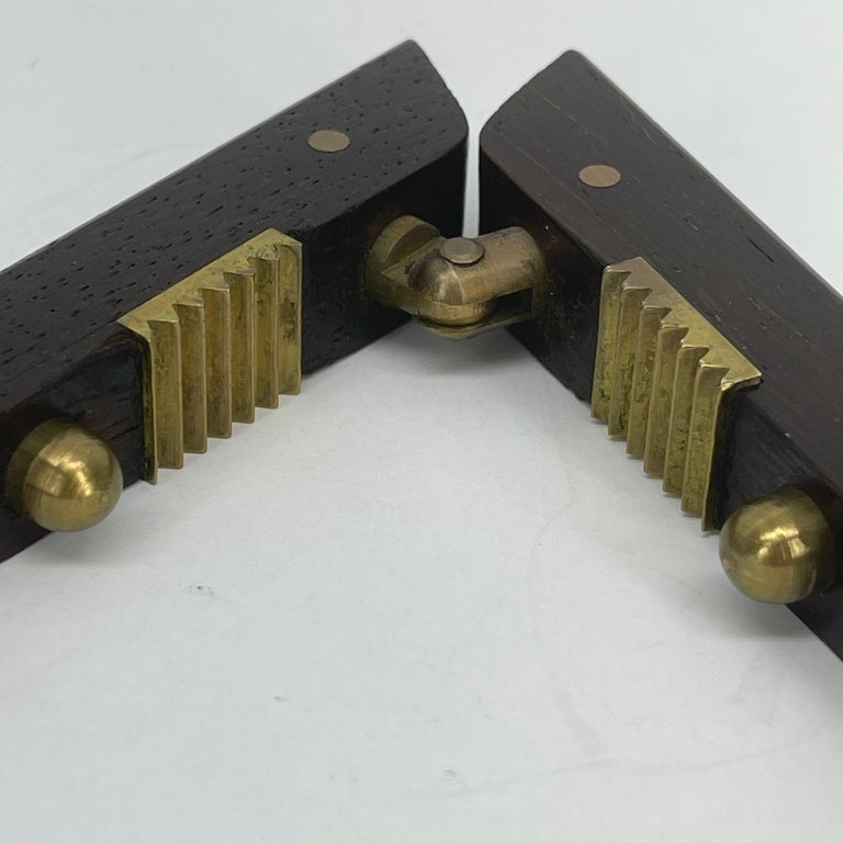 Poul Knudsen Teak and Brass Nutcracker, Denmark, Mid-Century Modern For Sale 5