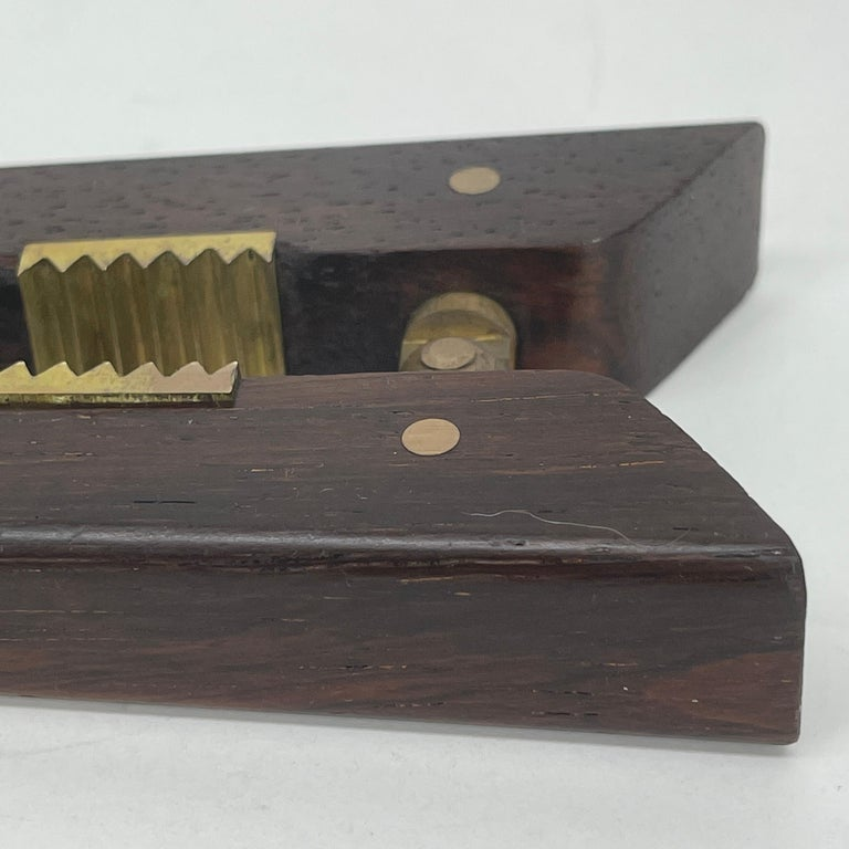Poul Knudsen Teak and Brass Nutcracker, Denmark, Mid-Century Modern For Sale 6