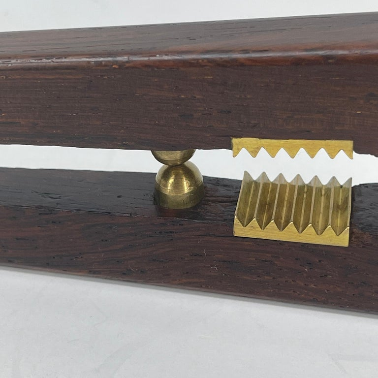 Poul Knudsen Teak and Brass Nutcracker, Denmark, Mid-Century Modern For Sale 8