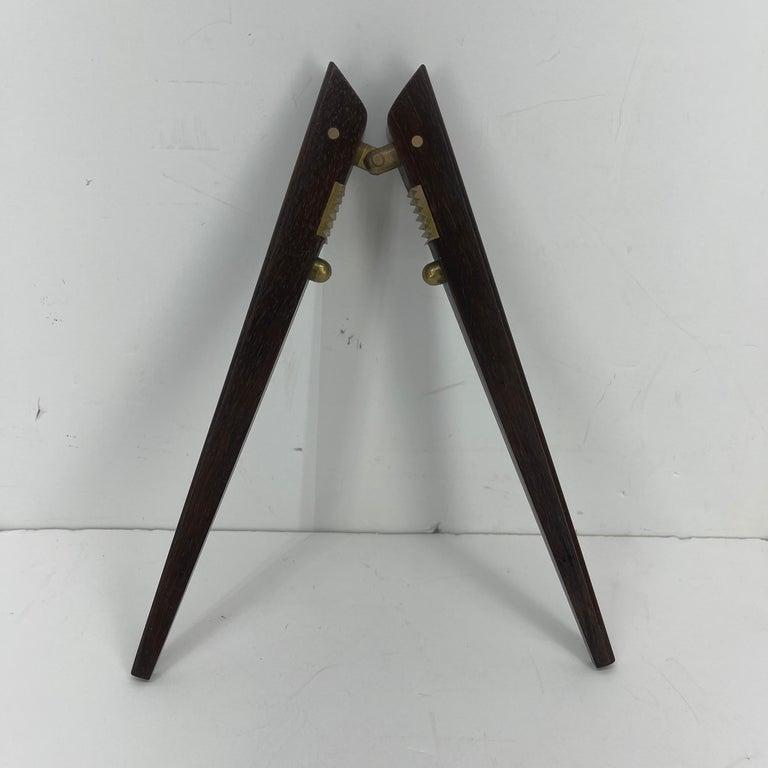 Poul Knudsen Teak and Brass Nutcracker, Denmark, Mid-Century Modern For Sale 4