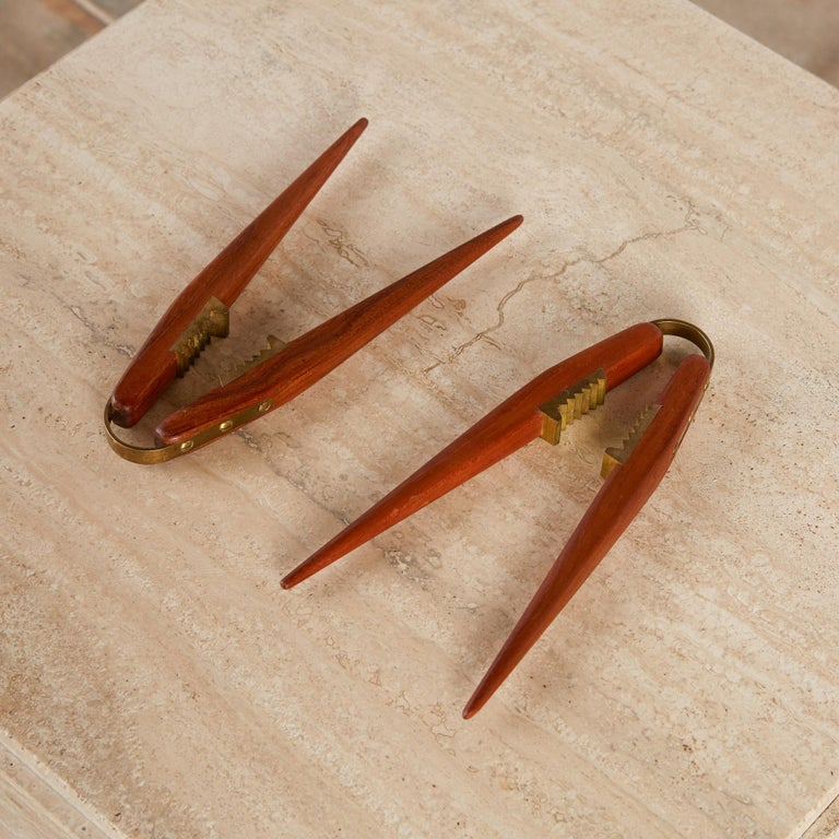 Poul Knudsen Teak and Brass Nutcracker For Sale 1