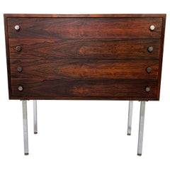 Poul Norreklit Danish Rosewood Four-Drawer Chest for Georg Petersens